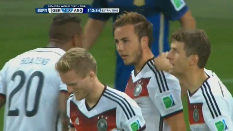 Mario Götze heeft net het doelpunt aangetekend dat 'Die Mannschaft' de felbegeerde wereldbeker bezorgde.