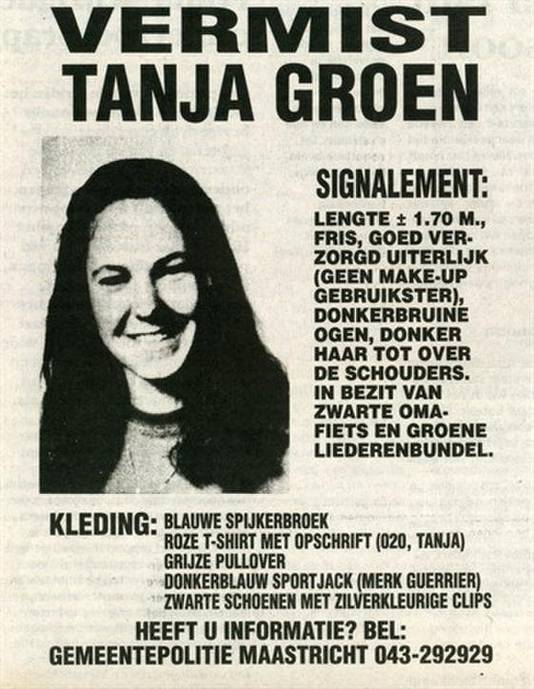 Vermissingsposter Tanja Groen