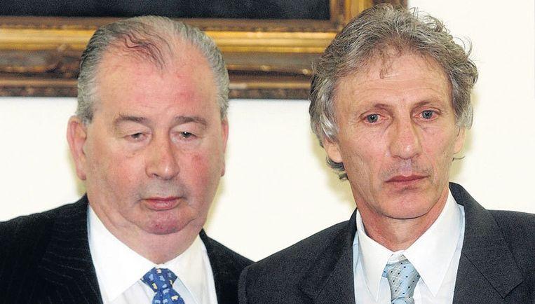 'Don Julio' (links) is al vanaf 1979 voorzitter van de AFA en heeft het Clarín-monopolie sinds 1987 toegestaan. Foto AP Beeld