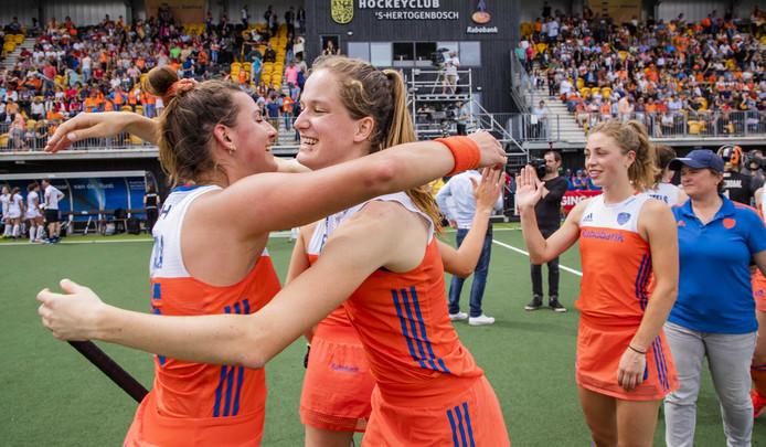 Archiefbeeld: de Nederlandse hockeysters wonnen vorige week ook al van Belgïe in de Pro League.