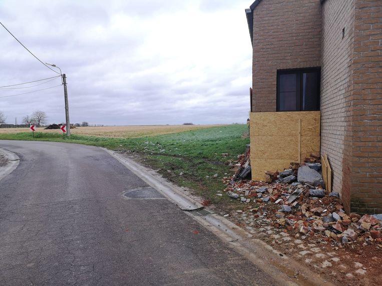De woning liep heel wat schade op.