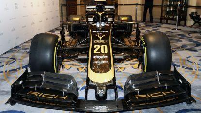 De nieuwe F1-bolide van Haas: zwart gevaarte met gouden accenten