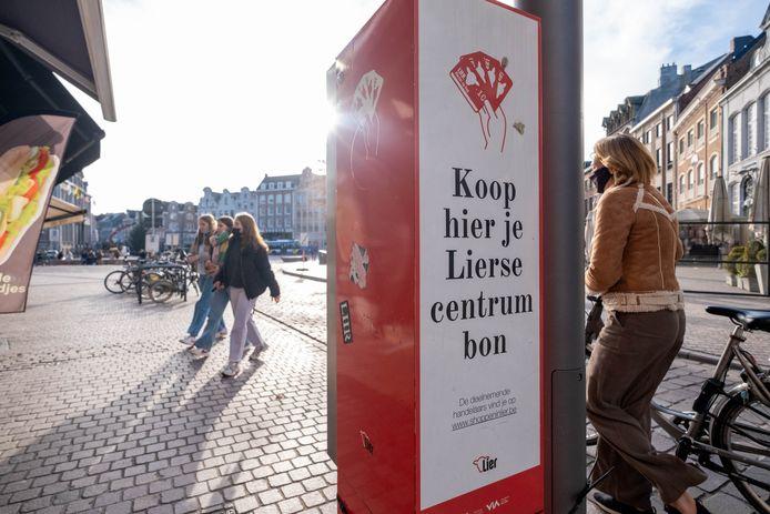 Van de 'coronacentrumbonnen' die de stad in de zomer cadeau deed aan de Lierse huishoudens werden er tot nu toe minder dan de helft gebruikt.