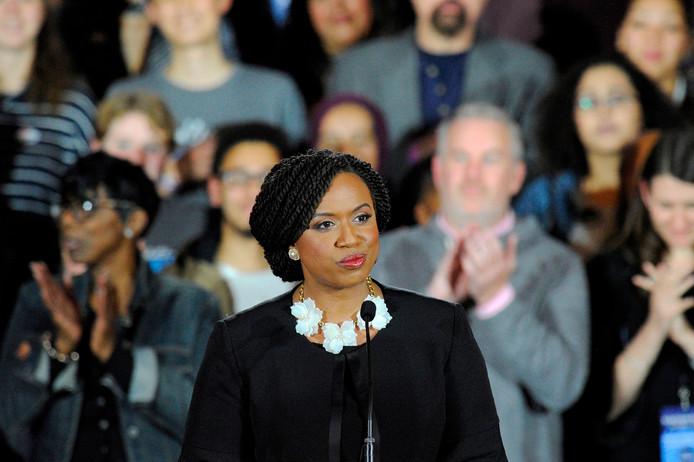 Congresslid Ayanna Pressley.
