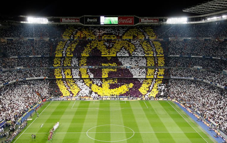 Bernabéu. Vanavond het middelpunt van de (voetbal)wereld.