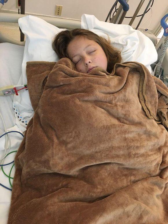 Maithili vanmiddag in het ziekenhuis.