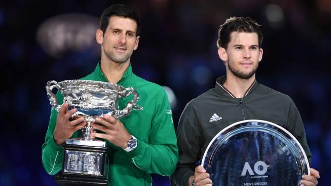 Thiem drijft Djokovic tot het uiterste, maar Serviër pakt na nerveuze vijfsetter achtste titel op Australian Open