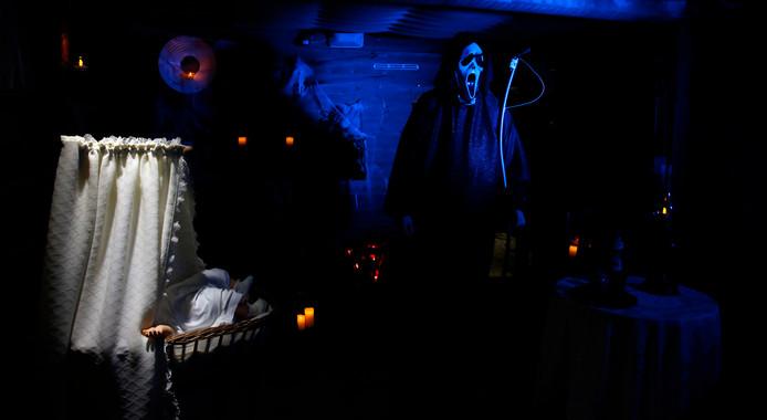 De Babykamer was een onderdeel van de Halloweentocht door Terhole