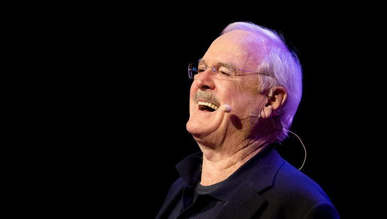 John Cleese in zijn soloshow Last time to see me before I die. Beeld null