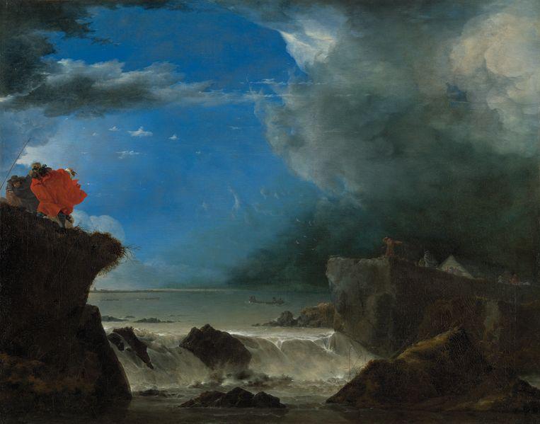 Jan Asselijn, Doorbraak van de Sint-Anthonisdijk (1651). Beeld Rijksmuseum Amsterdam
