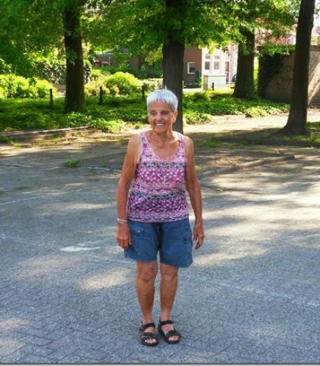 Blanche Troost-Tompot (86) uit Roosendaal is de oudste debutant van de Nijmeegse Vierdaagse