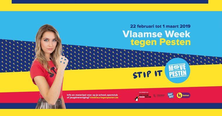 De affiche van de Vlaamse week tegen pesten