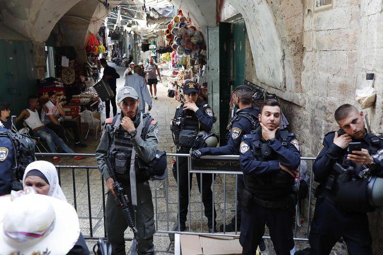De Oude Stad van Jeruzalem werd afgesloten na de aanval.
