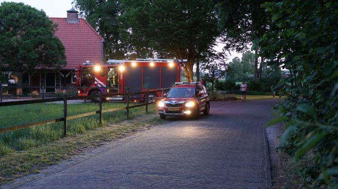 De brandweer in Raalte kon na het incident snel weer retour.