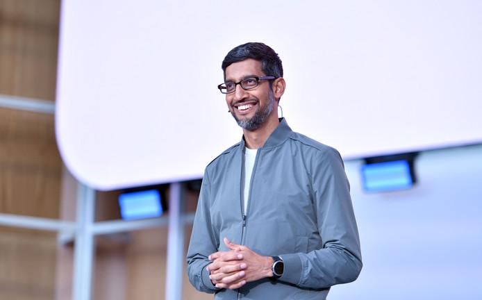 CEO Sundar Pichai van Google tijdens de jaarlijkse ontwikkelaarsconferentie in Mountain View, Californië.