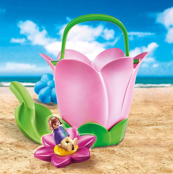 Seau de plage Playmobil.