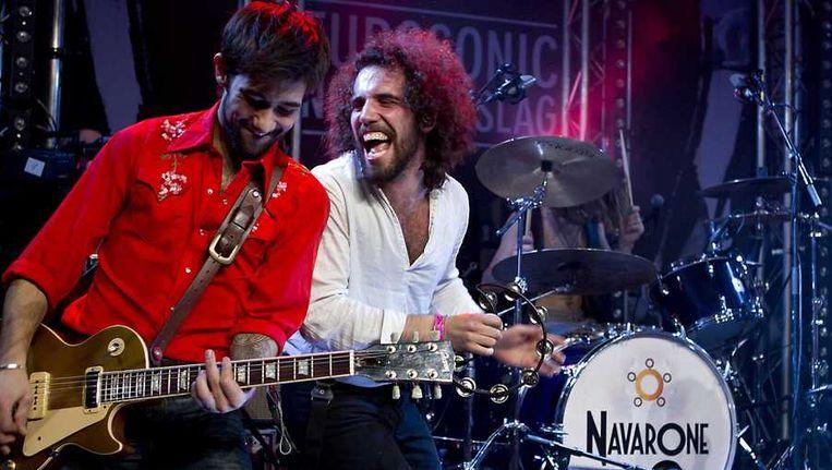 De Nederlandse band Navarone op Noorderslag. Beeld anp