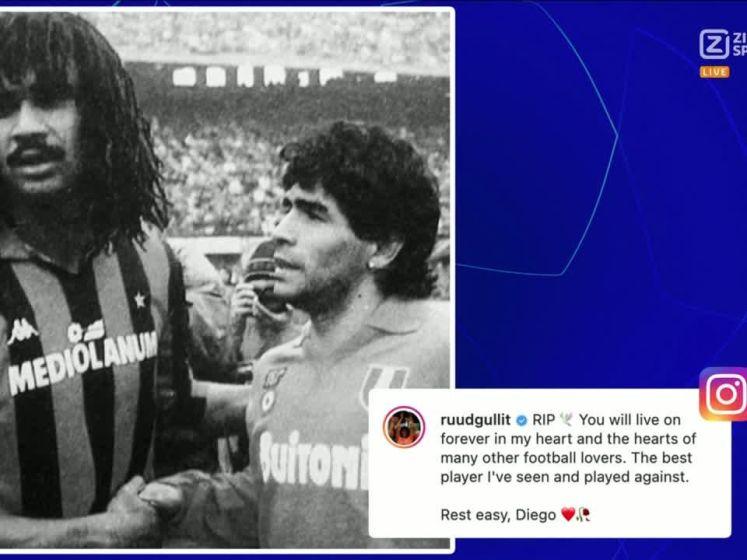 Gullit over Maradona: 'Je voelde de pijn als je bij hem was'