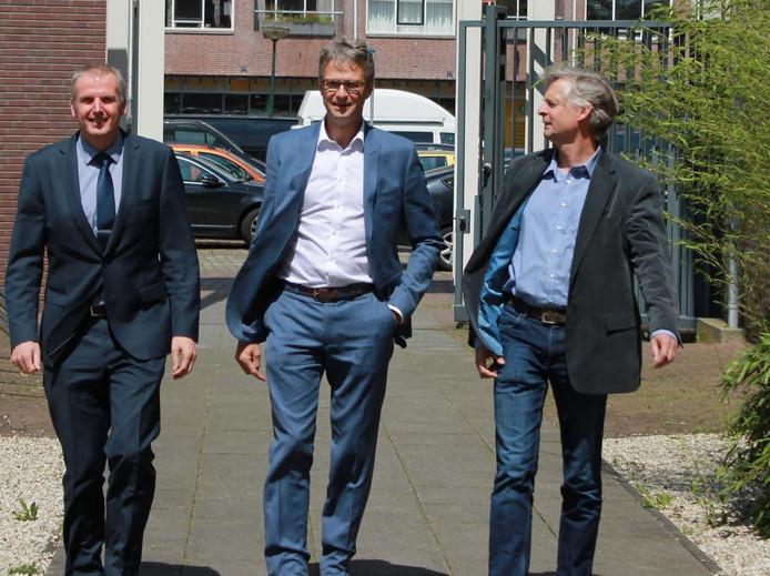 v.l.n.r. Jan Lenssen, Arnold van Kraaij en Mark Pepping.