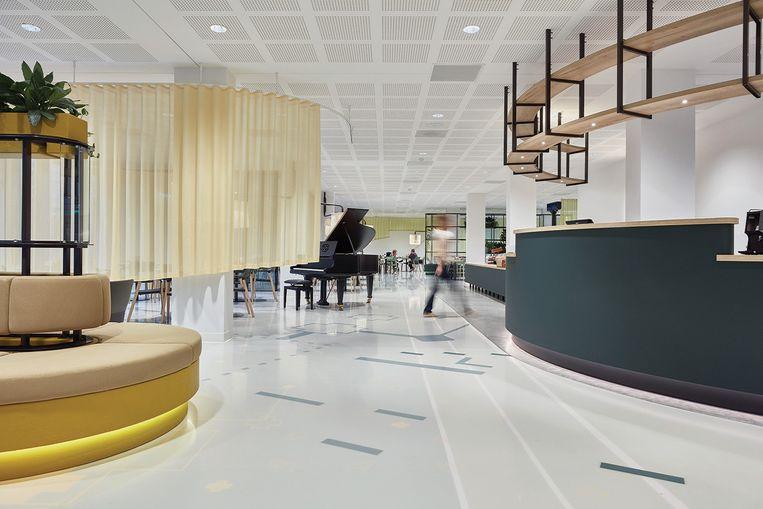 Het zorghotel Domstate in Utrecht, waar ouderen kunnen herstellen van een operatie of revalideren in de sfeer van een viersterrenhotel. Beeld Fotografie Zorg Hotel
