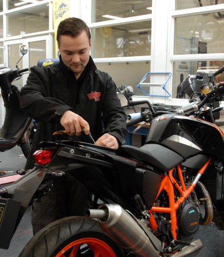 Nick (22), Europa's beste mbo-motorfietsmonteur, sleutelt in Goirle: 'Alles liep op rolletjes'