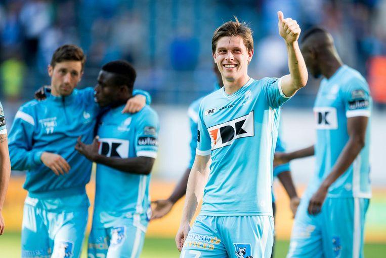 Hannes Van der Bruggen scoorde voor AA Gent. Beeld belga