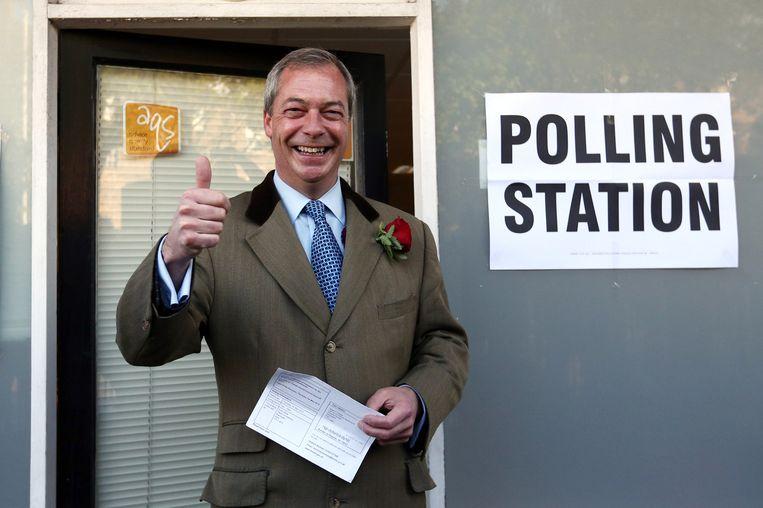 Peter de Waard: 'Nigel Farage van de UKIP is met Geert Wilders te vergelijken, zij het dat de olijke Brit een aanzienlijk hoger knuffelgehalte heeft.' Beeld getty