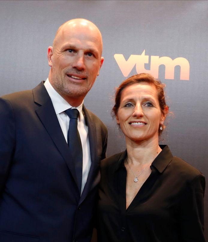 Philippe Clement et sa compagne Isabelle Bauwmans.