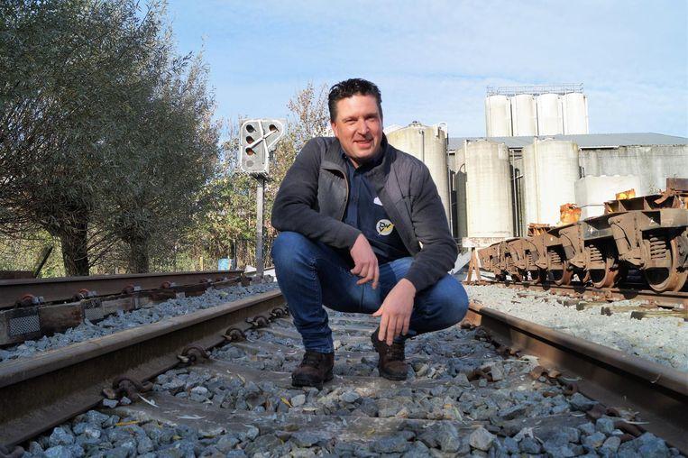 Jan De Witte van elektriciteitsbedrijf De Witte-Vandecaveye op het testspoor.
