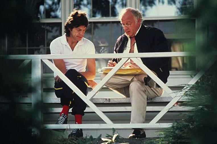 Mick Jagger en Rupert Loewenstein.
