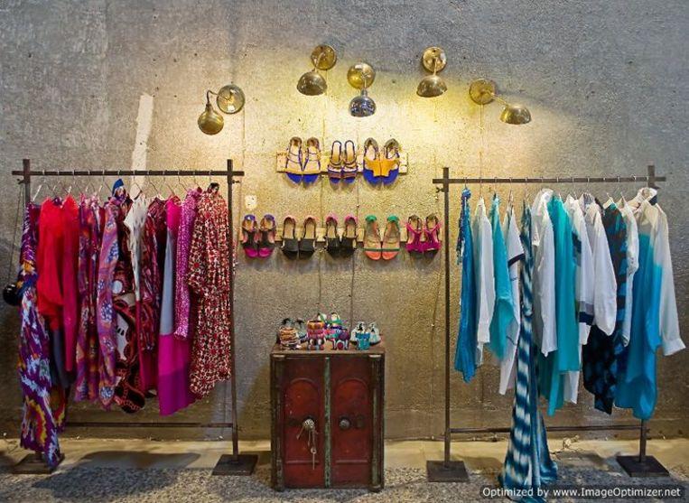 Bungalow 8, een van de toonaangevende modewinkels van Mumbai.  Beeld RV