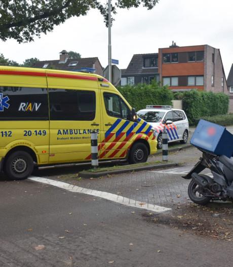 Maaltijdbezorger gewond bij aanrijding door auto in Tilburg