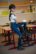 Evi van Rooij, leerlinge Rodenborch College in Rosmalen, is Nederlands kampioen paarden dressuur.