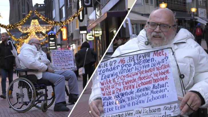 'Schreeuwjezus' gaat ondanks slechte gezondheid door: 'Ik heb Jezus ontmoet'