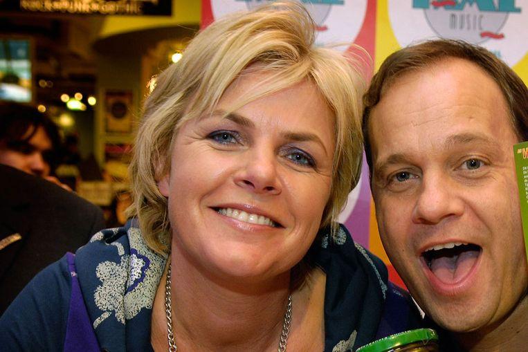 Irene Moors, hier met haar tv-maatje Carlo Boszhard (ANP) Beeld