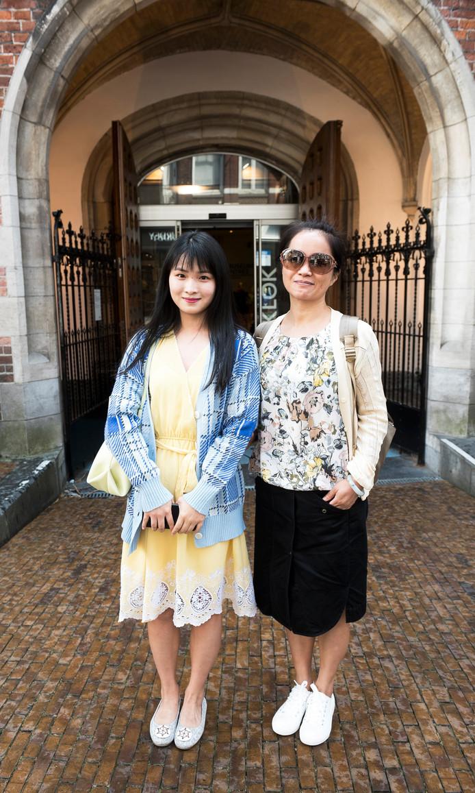 Xiang Linman en haar moeder Shi Rongrong.
