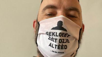 """Filmregisseur Michaël Roskam promoot Rundskop-mondmaskers: """"Gekloeët zèèt dzje altèèd... en na zeiker"""""""