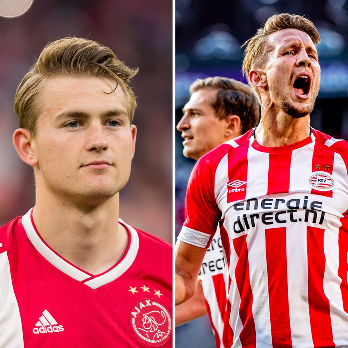 Matthijs de Ligt (l) en Luuk de Jong.
