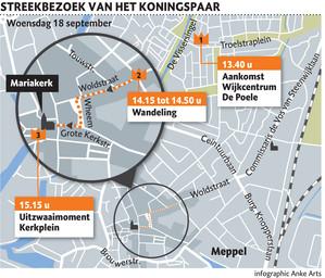 Streekbezoek aan Meppel van koning Willem-Alexander en koningin Maxima.