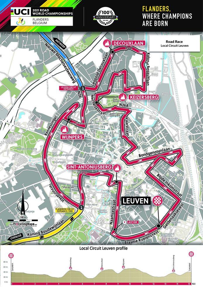 Het lokale circuit in Leuven.