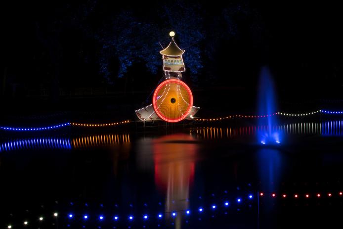 Prachtig licht op het water