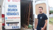 """Bestelwagen vol werkmateriaal leeggeroofd langs Kattenbos: """"Alles nieuw aankopen zal me rap 7.000 euro kosten"""""""