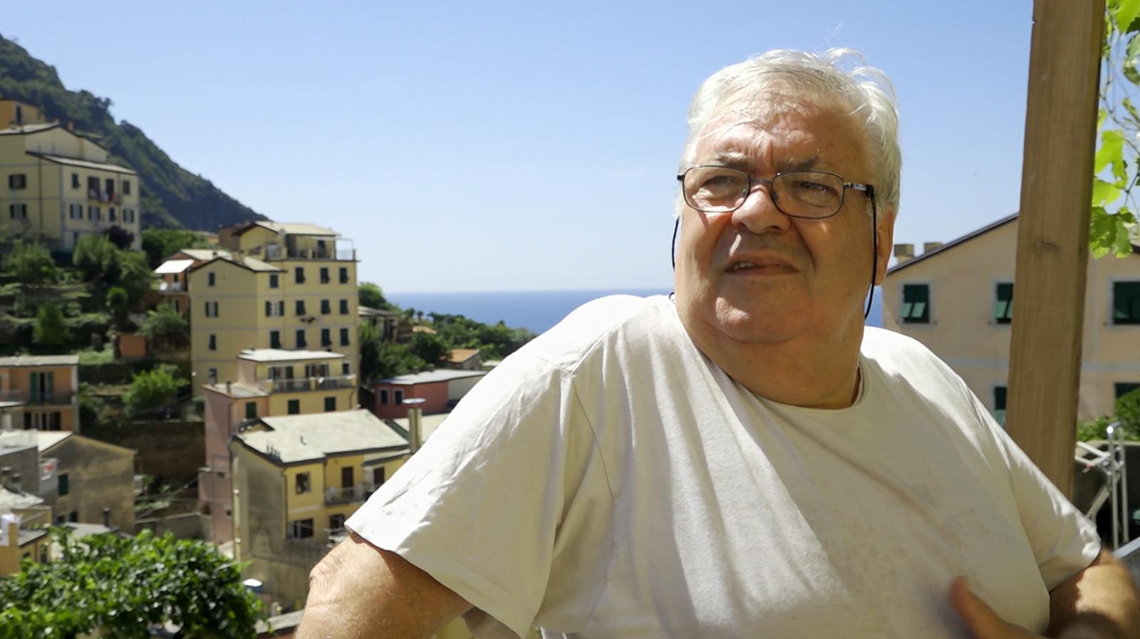 Giuseppe Giacinto inwoner 84 jaar oud van Riomaggiore.