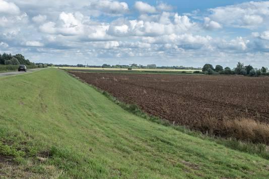 Het gebied waar het Friese bedrijf De Wolff windmolens wil plaatsen.