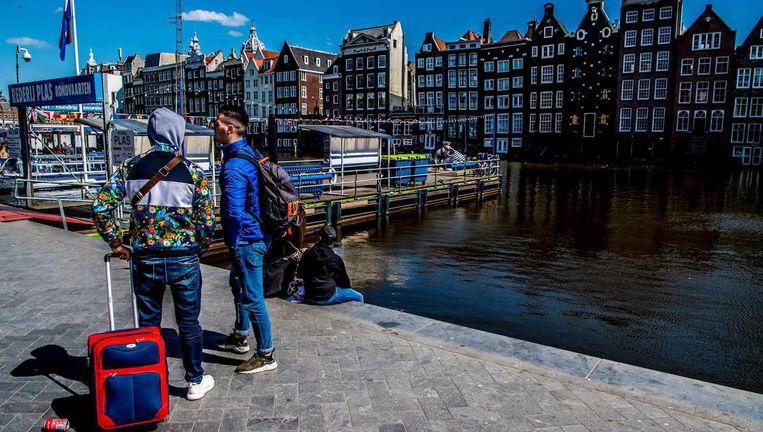 Toeristen in het centrum Beeld ANP