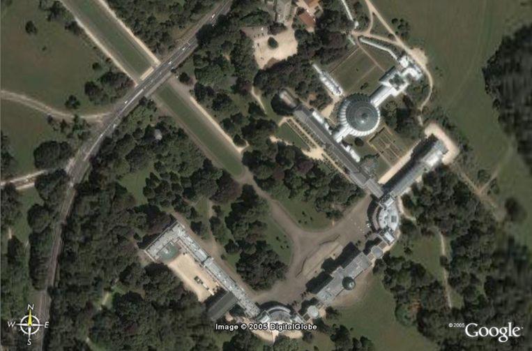 Archiefbeeld Koninklijk Domein in Laken vanuit de ruimte (2006).