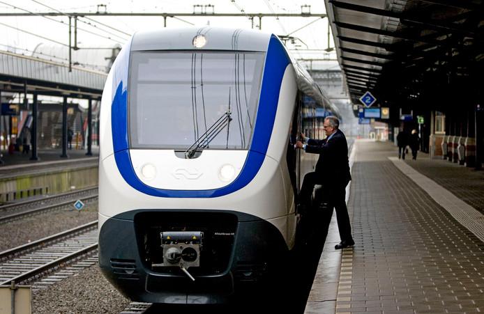 Een Sprinter op station Amersfoort.