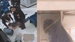 Ontsnappingspoging loopt helemaal mis: gevangene valt door plafond