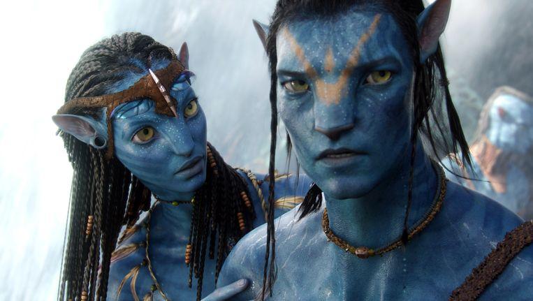 Neytiri en Jake, uit de film Avatar. Beeld AP