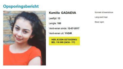 Meisje van 13 jaar vermist, zussen terecht